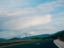 omnibus Autoroute en Croatie Photographie stock