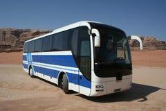 Omnibus azul Imagenes de archivo