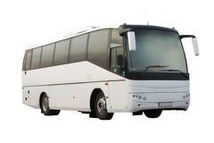 Omnibus blanco del pasajero aislado Imagenes de archivo