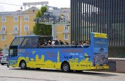 Omnibus con los turistas Foto de archivo
