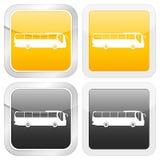 Omnibus cuadrado del icono Fotografía de archivo