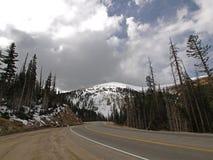 Omnibus dans les montagnes rocheuses Images libres de droits