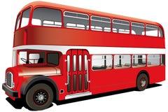 Omnibus de apilador doble rojo
