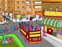 Omnibus de viaje de la ciudad stock de ilustración