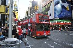 Omnibus de visita turístico de excursión de New York City Foto de archivo
