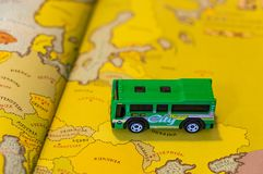 Omnibus del juguete imagen de archivo