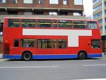 Omnibus del rojo del apilador doble Fotos de archivo