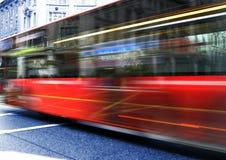 Omnibus rojo Fotografía de archivo