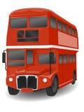 Omnibus rojo de Londres Routemaster stock de ilustración