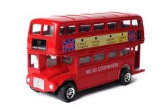 Omnibus rojo famoso de Londres Imagen de archivo libre de regalías