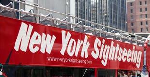 Omnibus turístico en New York City Foto de archivo