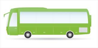 Omnibus verde de la ciudad Foto de archivo libre de regalías