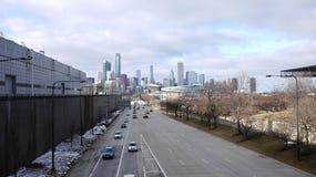 Omnibus vers Chicago photo libre de droits