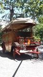 Omnibus. Vintage omnibus in the gardens Royalty Free Stock Images