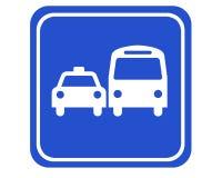Omnibus y taxi Imagen de archivo