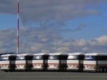 Omnibuses turísticos Imagen de archivo libre de regalías