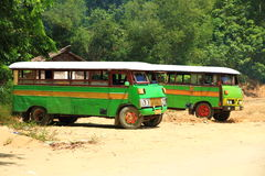 Omnibuses viejos Imagen de archivo libre de regalías