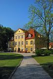 Łomnica Mansion Poland, Europ. Lomnica mansion in Poland, Europe. Now: museum, hotel and restaurant Stock Photos
