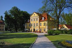 Łomnica Mansion Poland, Europ. Lomnica mansion in Poland, Europe. Now: museum, hotel and restaurant Stock Photography