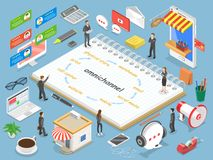 Omnichannel flat isometric vector concept. Stock Photography