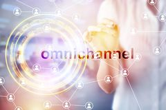 Omnichannel retail concept stock images