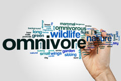 Omnivore word cloud Royalty Free Stock Image