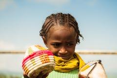 OMO的人们,埃塞俄比亚 库存图片