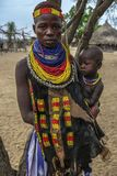 Karo tribe in Omo valley, Ethiopia Stock Photography