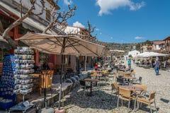 Omodos,塞浦路斯村庄  库存照片