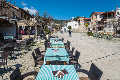 Omodos,塞浦路斯村庄  免版税库存照片