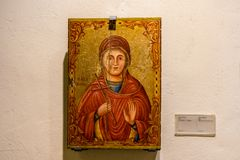 A religios icon in Omodos in cyprus. stock photography