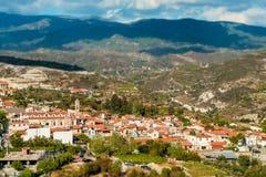 Omodos, traditioneel dorp in de Troodos-Bergen Limassol district, Cyprus royalty-vrije stock foto