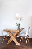 Łomotać stołowego hotelowego mieszkanie Obraz Royalty Free