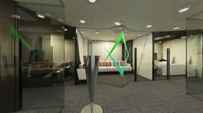 Łomotanie pokój 3D Obrazy Stock