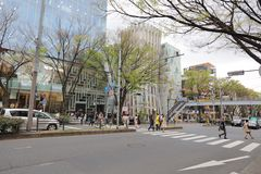 Omote Sando hill is a mall famous Royalty Free Stock Images