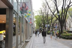 On Omotesando Street  at 2016 Stock Images