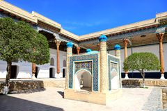 ?omotu Naqshband kompleks w Bukhara fotografia stock