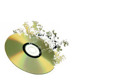 Сompact disk is coming asunder Stock Images