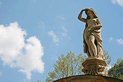 Omphale gudinna som håller ögonen på i Herculane, Rumänien Arkivfoto