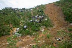 Ompong Mangkhut för tyfon för Ucab Itogon Benguet jordskredtragedi Filippinerna arkivfoto