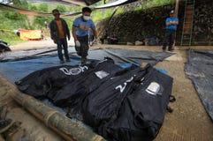 Ompong Mangkhut för tyfon för Ucab Itogon Benguet jordskredtragedi Filippinerna arkivbild