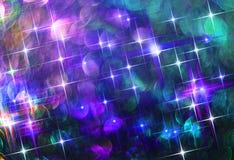 Omposition Ð ¡ van glanzende kleurrijke sterren op een zwarte achtergrond royalty-vrije stock fotografie