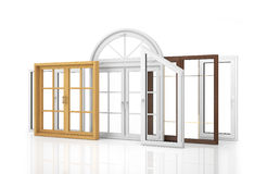 Сomposition of various kinds of window Stock Photo