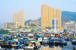 Område Aberdeen i Hong Kong Royaltyfri Fotografi