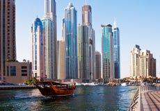 Område av den Dubai marina på Juni 4, 2013 i Dubai Royaltyfria Foton