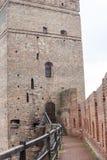 Område av den gamla Lubart slotten i Lutsk Ukraina royaltyfri fotografi
