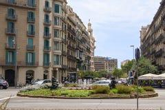 Område Barcelona arkivbilder