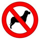 område dogs inget tecken Royaltyfria Bilder