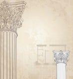 område för bild för klassiska kolonner för bakgrund dynamiskt högt Romersk corinthiankolonn Royaltyfria Bilder