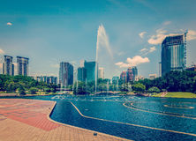 Område för central affär av Kuala Lumpur Arkivbild